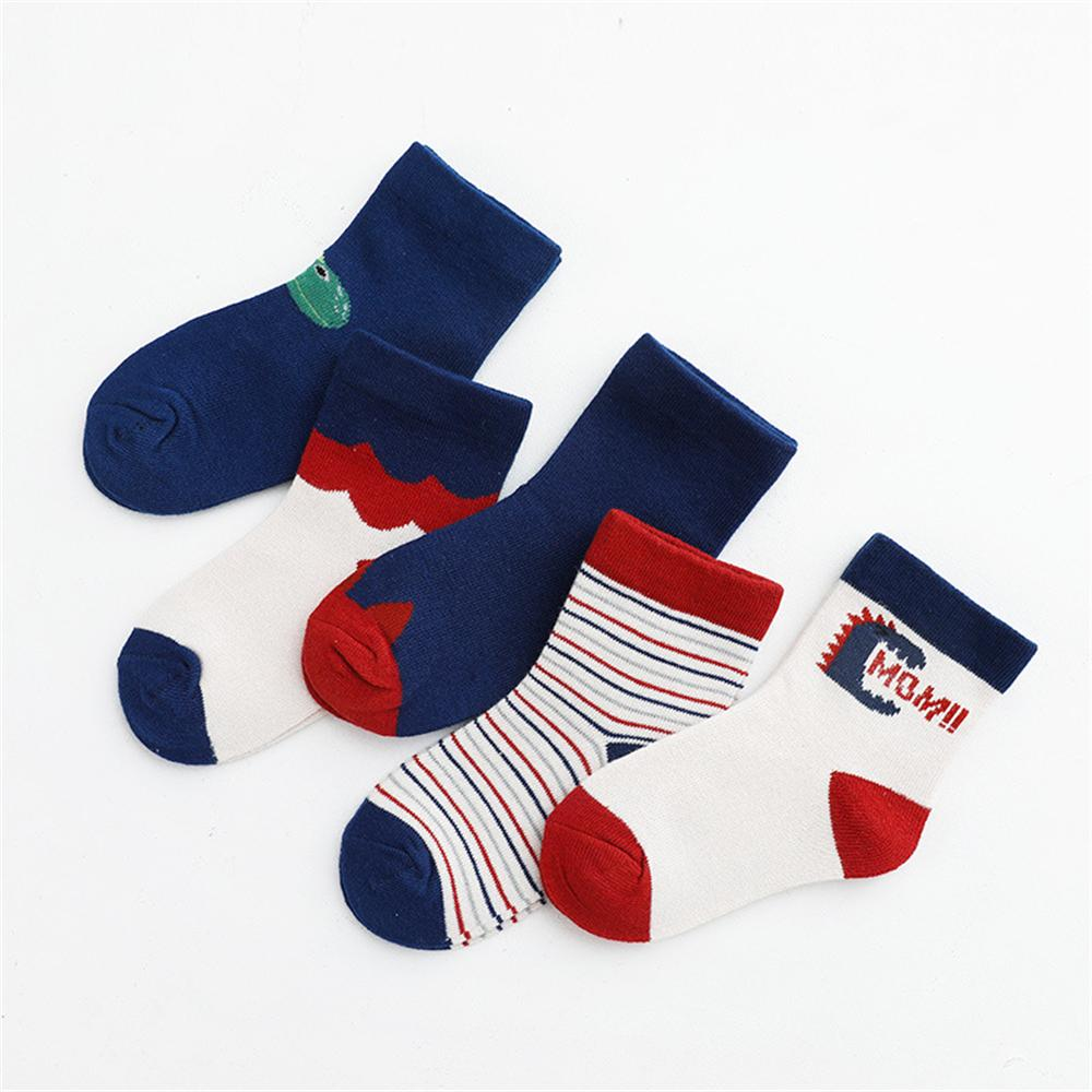 Baby 5-Pairs Cartoon Casual Socks Sets Baby Accessories Wholesale - PrettyKid