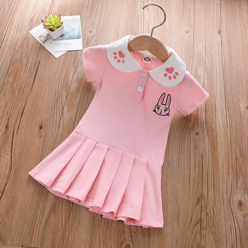 Toddler Girl College Style Polo Collar Dress Wholesale Children's Clothing