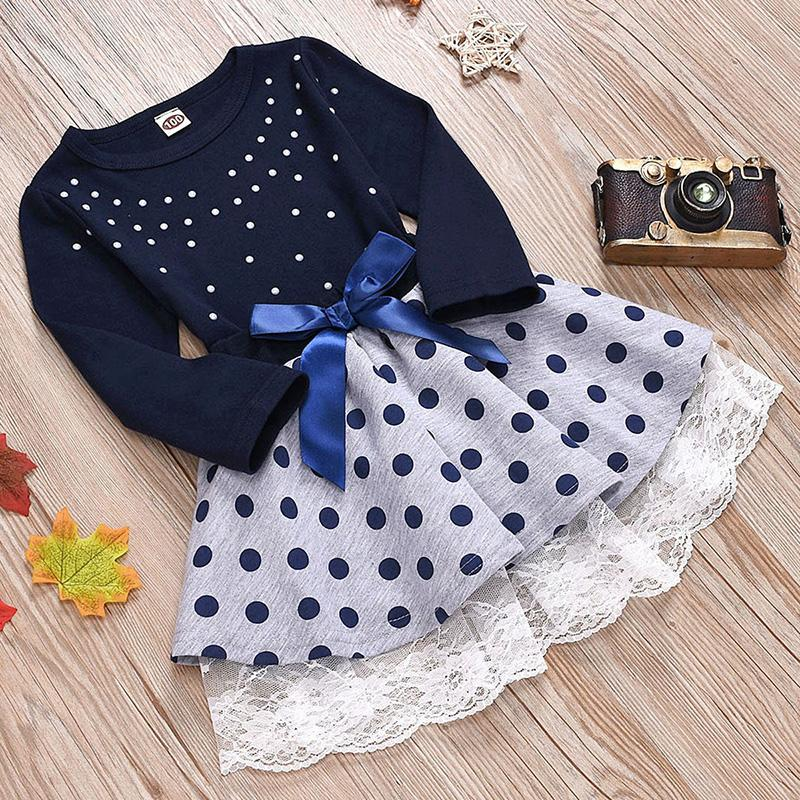 2-piece Polka dot Dress Set for Toddler Girl Wholesale children's clothing