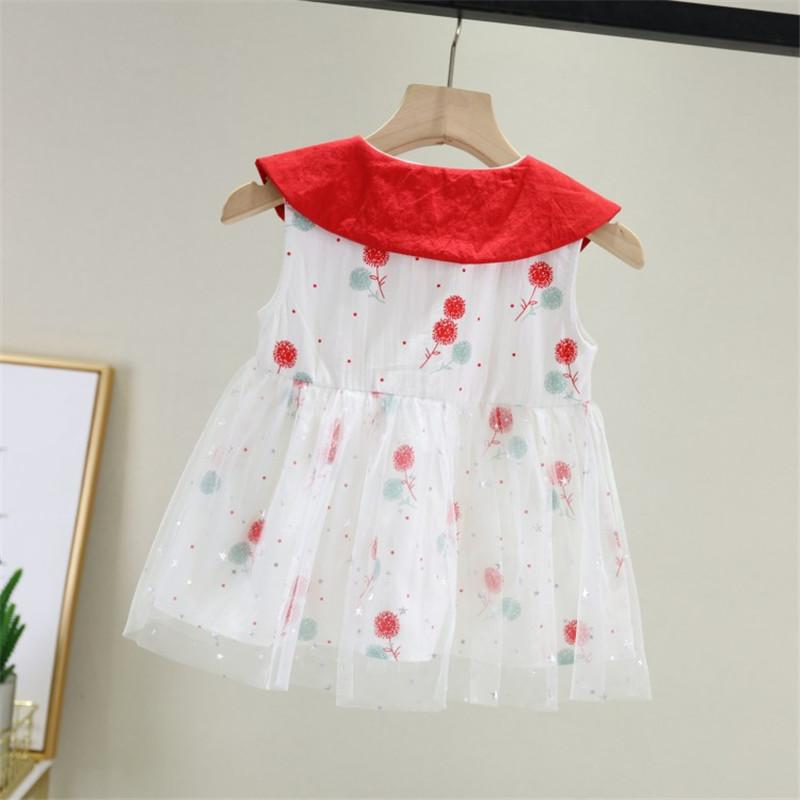 Floral Printed Mesh Dress for Baby Girl - PrettyKid