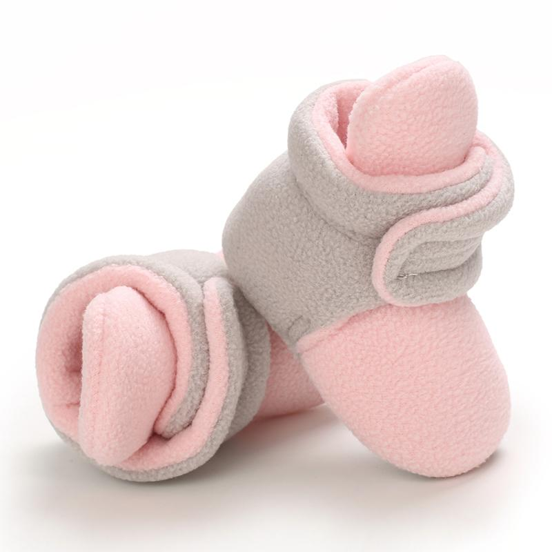 Velcro Design Cotton Fabric Baby Shoes