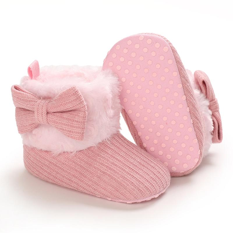 Velcro Design Cotton Fabric Shoes for Baby Girl