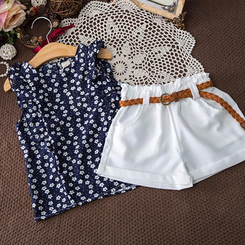 2-piece Floral Sleeveless Top & Shorts for Toddler Girl Wholesale Children's Clothing