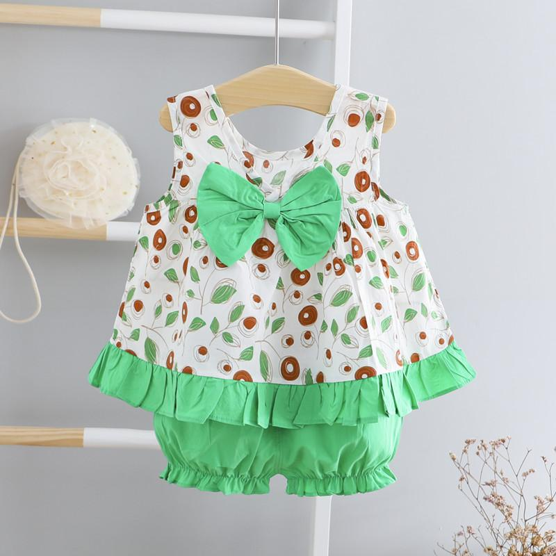 2-piece Floral Printed Dress & Shorts for Toddler Girl - PrettyKid