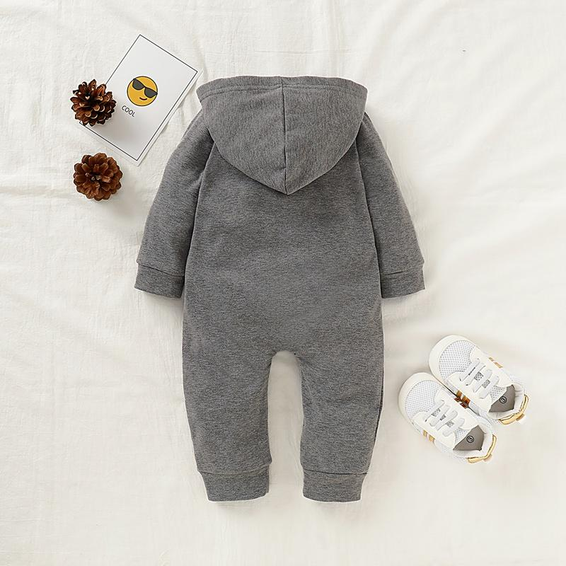 Solid Hooded Jumpsuit for Baby Wholesale children's clothing