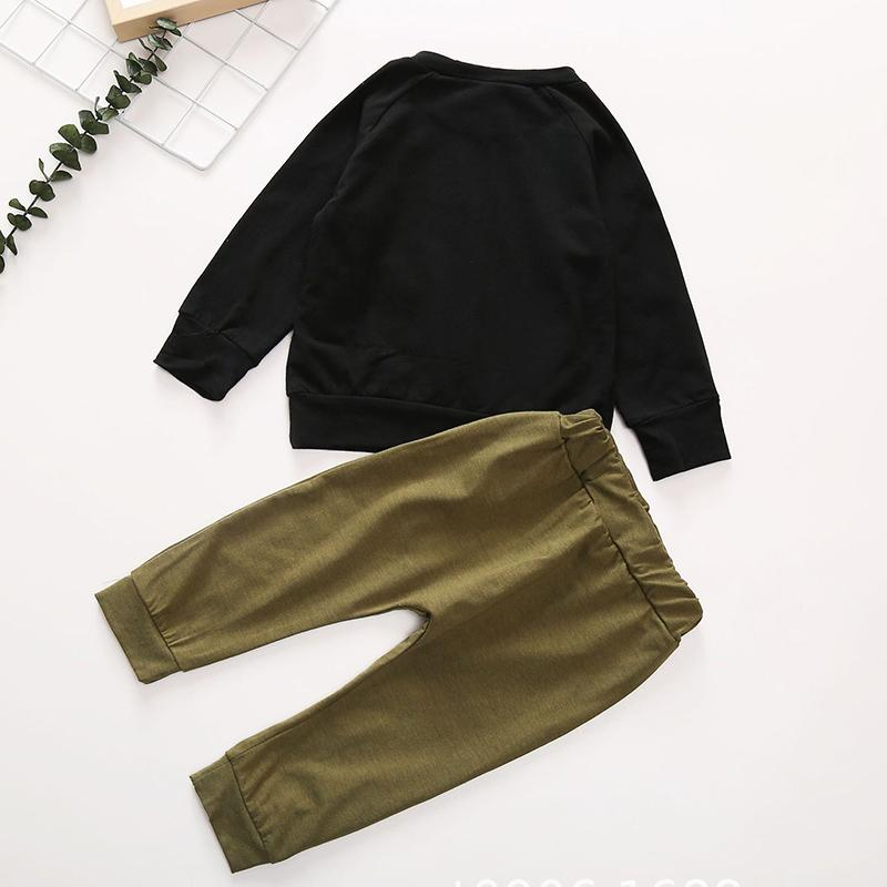 2-piece Long Sleeve T-shirt & Pants for Baby Wholesale children's clothing