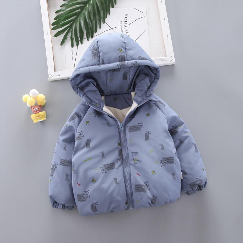 Animal Pattern Extra Thick Puffer Jacket for Toddler Boy Wholesale children's clothing