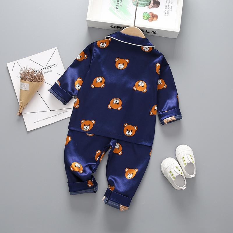 2-piece Cartoon Design Pajamas for Toddler Girl Wholesale children's clothing