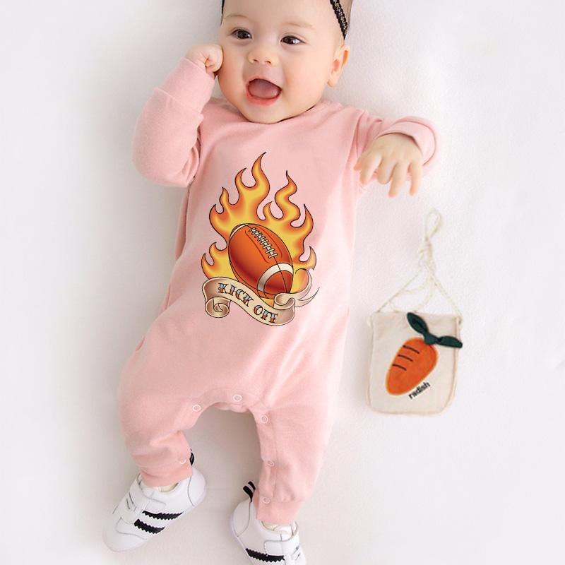 Football Pattern Jumpsuit for Baby Wholesale children's clothing