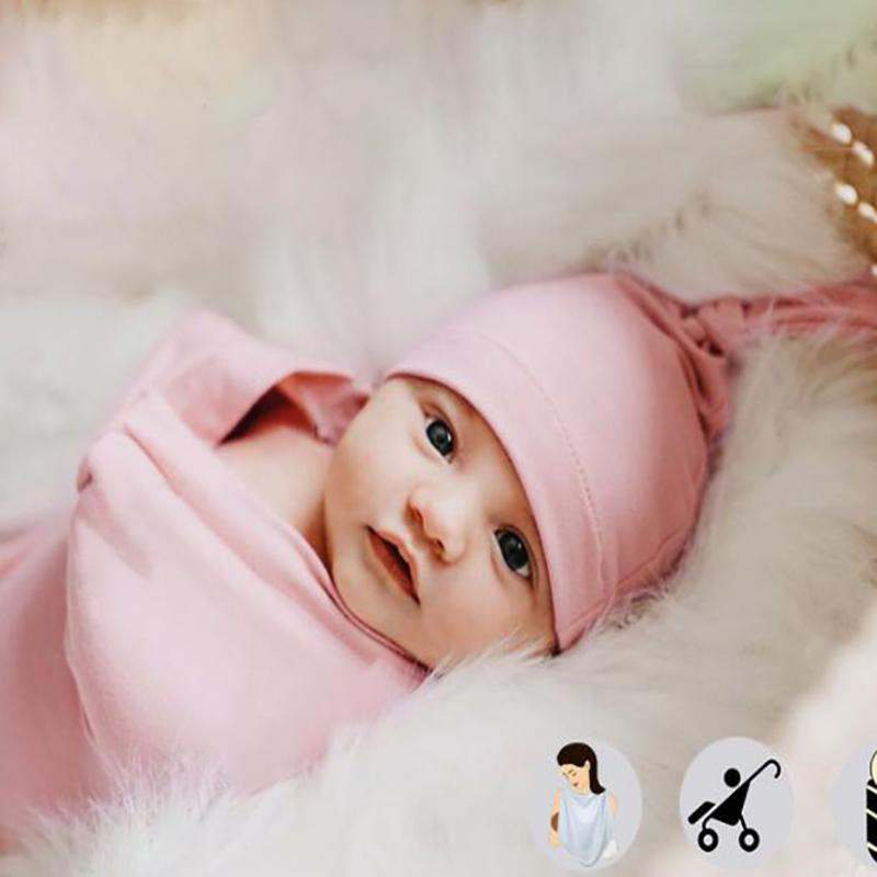 3pcs Baby Blanket and Hat with Headband For Newborn Wholesale children's clothing