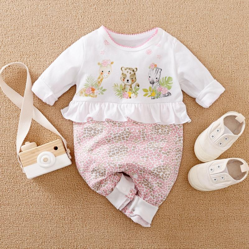 Cartoon Design Jumpsuit for Baby Girl Wholesale children's clothing - PrettyKid