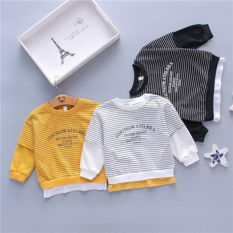 Wholesale Baby Onesies Striped Sweatshirts for Children Boy