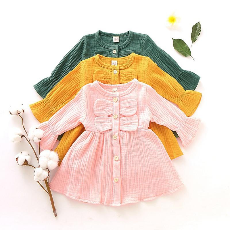 Solid Princess Dress for Baby Girl Wholesale children's clothing