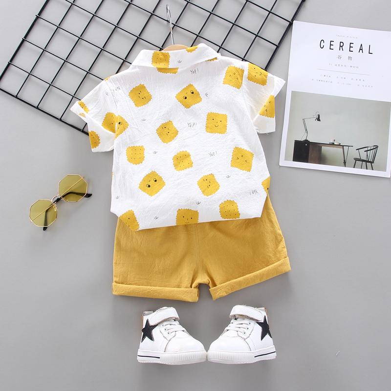 Toddler Boy Biscuit T-shirt & Shorts Wholesale Children's Clothing
