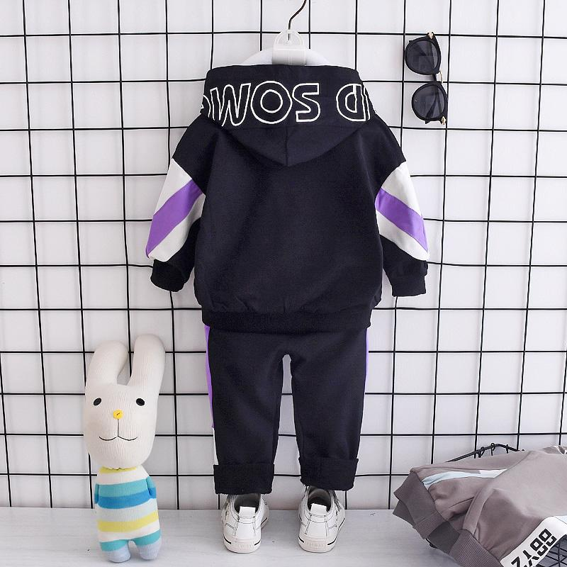 2-piece Color-block Hoodie & Pants for Toddler Boy Wholesale children's clothing