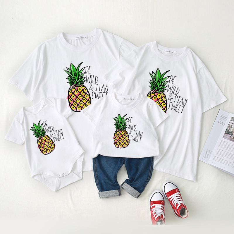 Family wear baby crawl wear short - sleeved t - shirt summer wear Wholesale children's clothing - PrettyKid