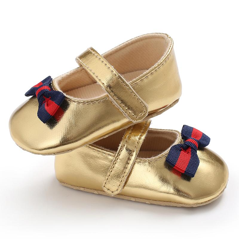 Velcro Design Bow Decor Soft Shoes for Baby Girl Wholesale children's clothing