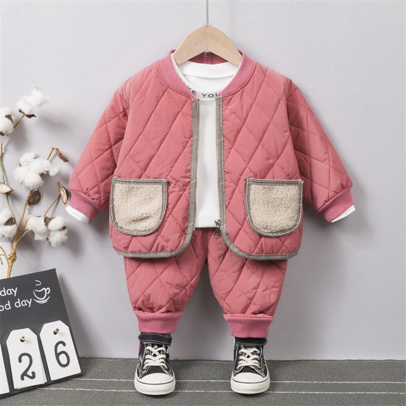 2-piece Winter Thick Coat & Pants for Toddler Girl Wholesale children's clothing