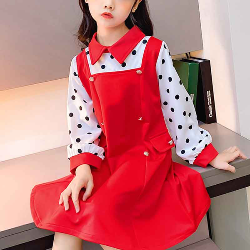 Sweet Dot Dress for Girls Wholesale Children's Clothing
