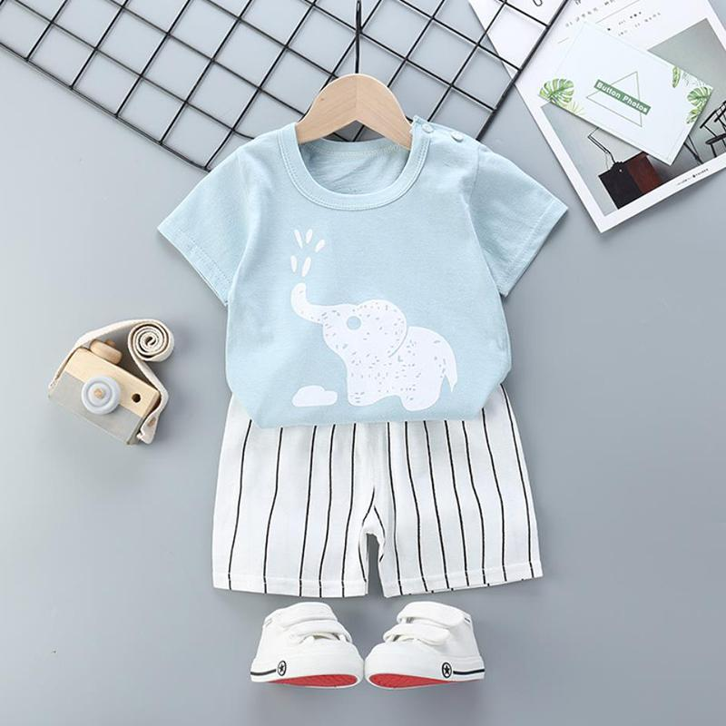 2pcs Cute Prints T-shirt and Pants No Shoes - PrettyKid