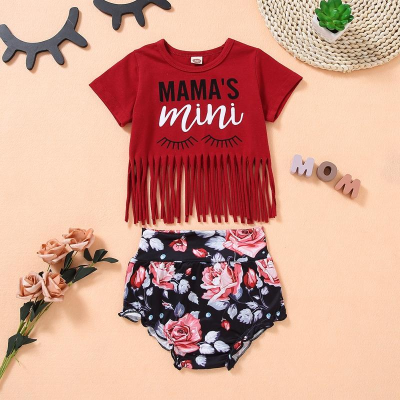 Baby Boy Floral Pattern Suit T-Shirt & shorts - PrettyKid