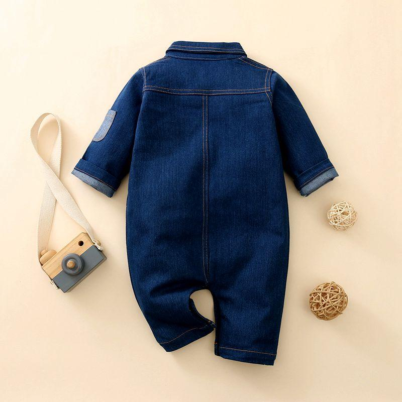 Solid Denim Jumpsuit for Baby Boy Wholesale children's clothing