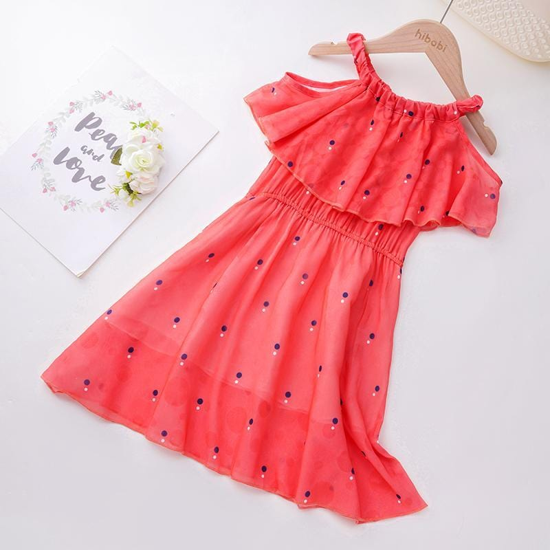Toddler Girl Polka Dot Pattern Summer Dress Wholesale Children's Clothing