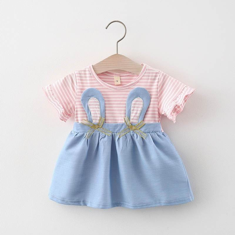 Baby Girl Rabbit Pattern Summer Dress Wholesale Children's Clothing - PrettyKid