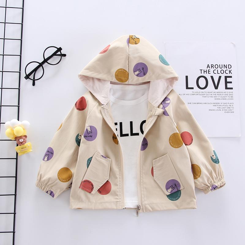 Fashion Color-block  Polka dot Jacket Wholesale children's clothing
