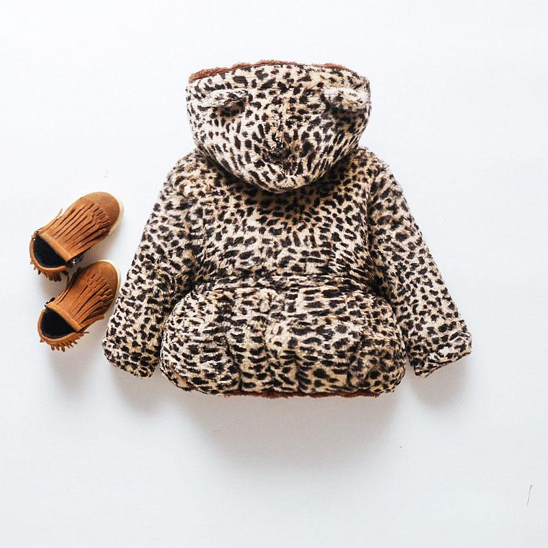 Leopard Puffer Jacket for Toddler Girl Wholesale children's clothing