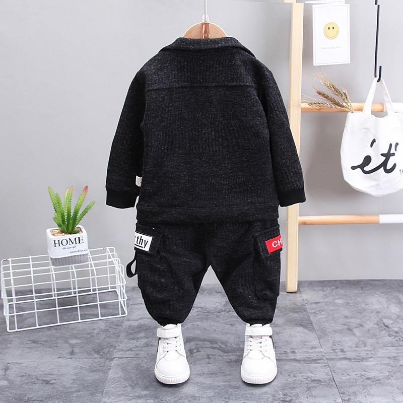 2-piece Solid Jacket & Pants for Toddler Boy Wholesale children's clothing