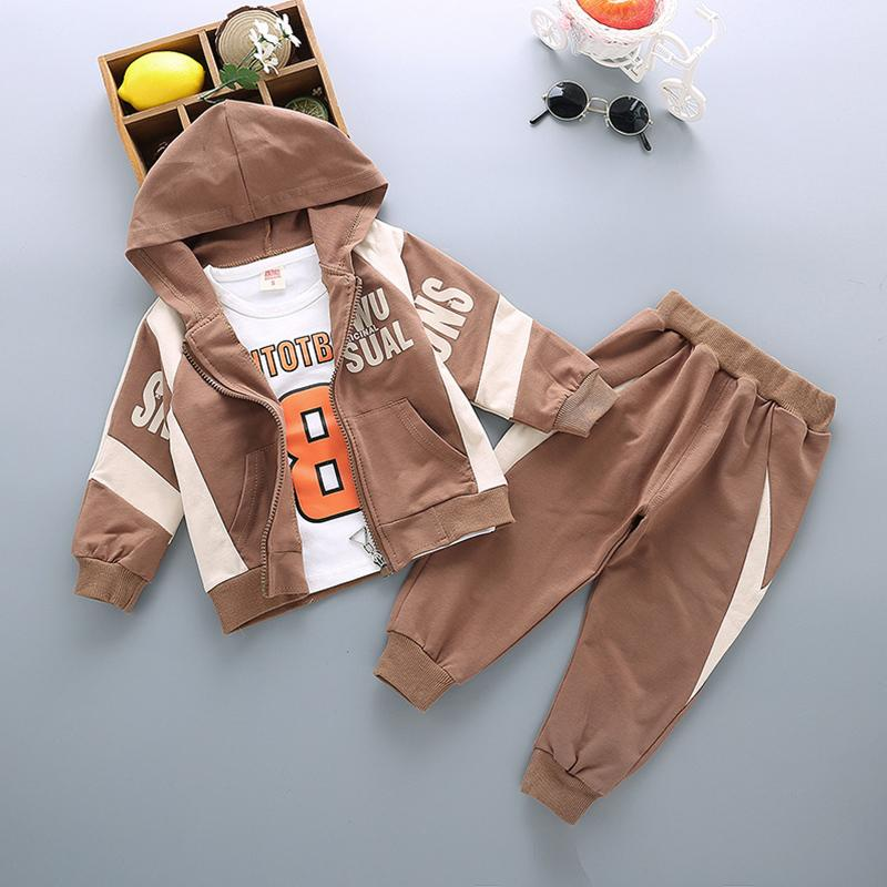 3-piece Coat & Sweatshirt & Pants for Toddler Boy Wholesale children's clothing