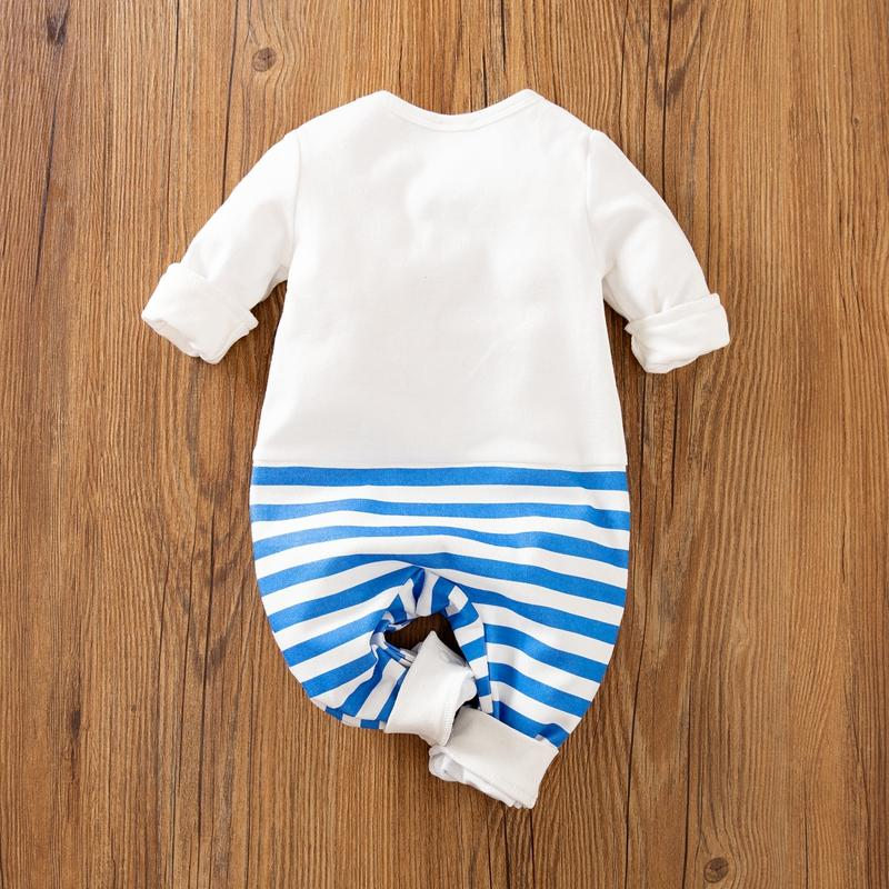 Cartoon Penguin Stripe Jumpsuit for Baby Wholesale children's clothing - PrettyKid