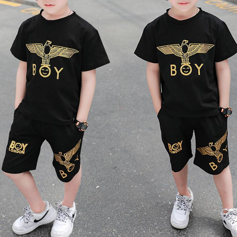 2-piece Animal Pattern T-shirt & Shorts for Toddler Boy Wholesale children's clothing