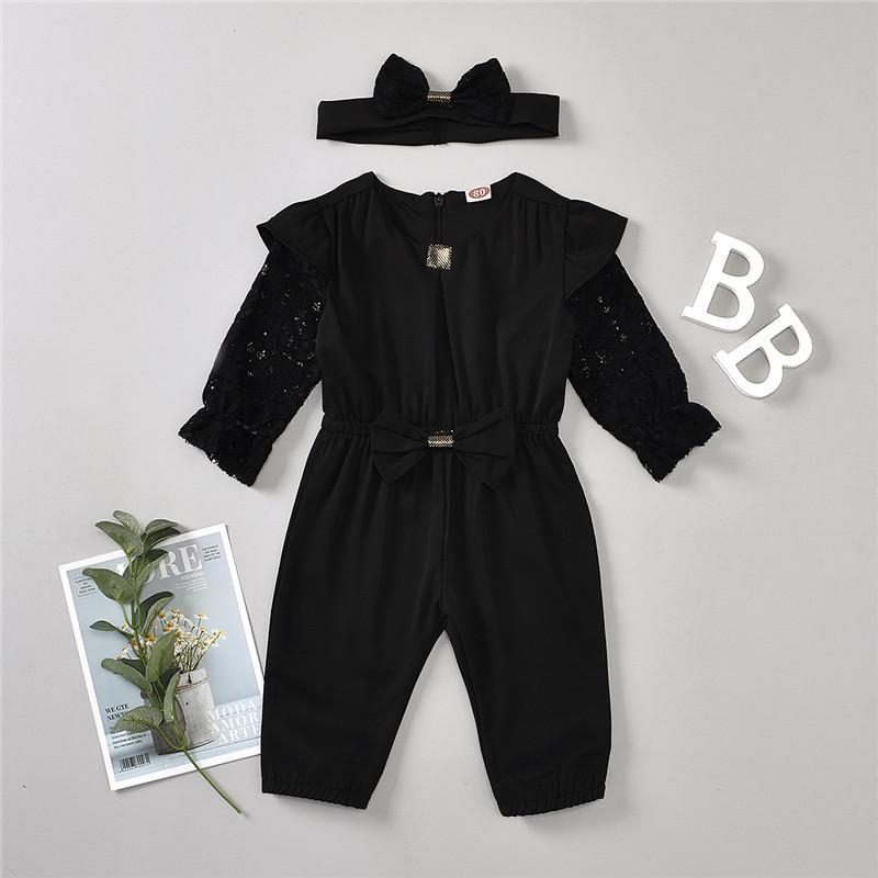 2-piece Overalls & Headband for Toddler Girl Wholesale Children's Clothing