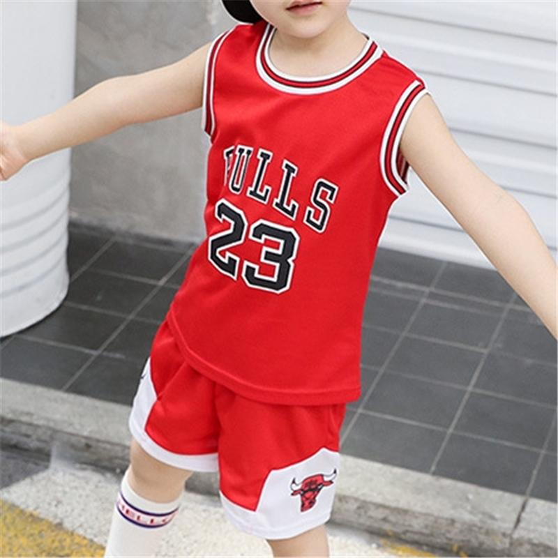 2 Pieces Causal Numbers Tee & Shorts for Kid Boy Wholesale children's clothing