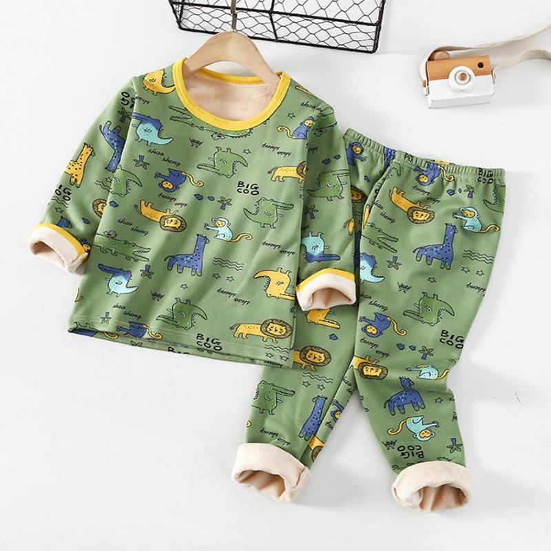 2-piece Fleece-lined Intimates Sets for Toddler Boy Wholesale children's clothing