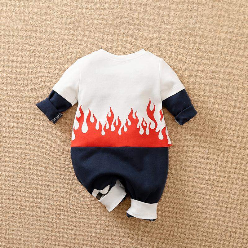 Flame Printed Jumpsuit for Baby Boy Wholesale children's clothing