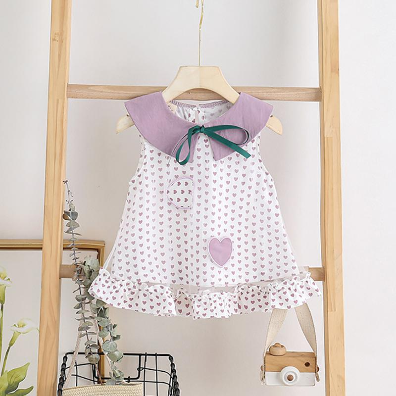 Fashion Heart-shaped Dress Wholesale children's clothing - PrettyKid