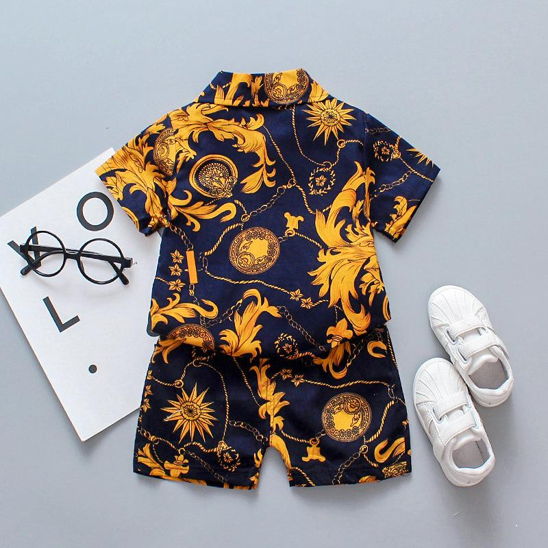 2pcs Fashion Floral Shirt and Shorts Pants Wholesale children's clothing