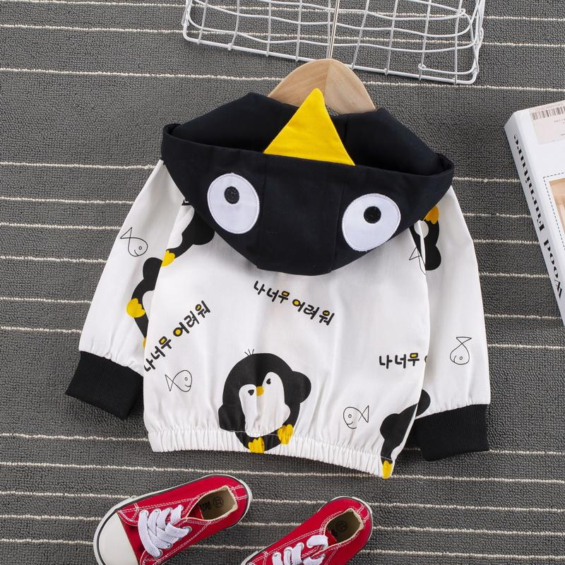 Penguin Pattern Jacket for Toddler Boy Wholesale Children's Clothing