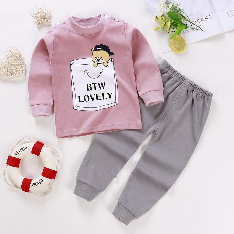 2-piece Cartoon Design Pajamas Sets for Toddler Boy Wholesale children's clothing