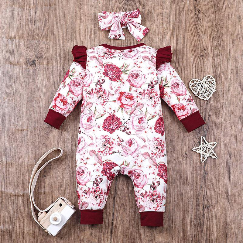 2-piece Romper & Headband for Baby Girl Wholesale Children's Clothing