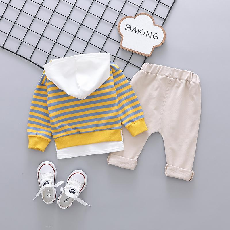 2-piece Striped Hoodie & Pants for Toddler Boy Wholesale children's clothing