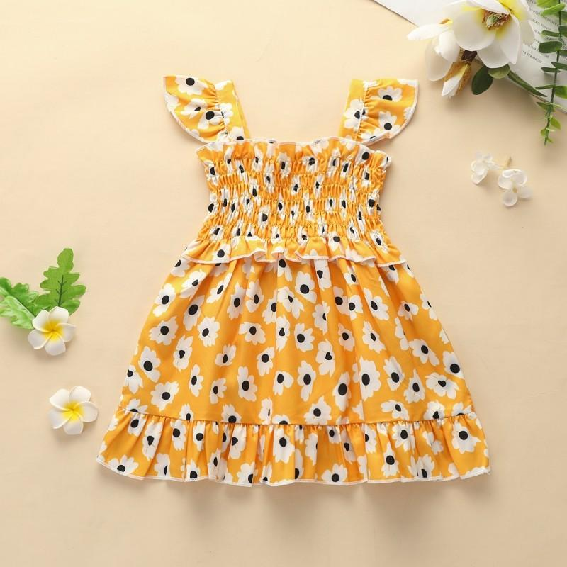 Tropical Print Dress for Baby Girl Wholesale Children's Clothing