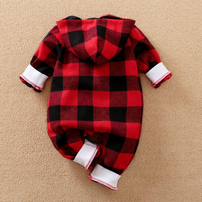 Plaid Hooded Jumpsuit for Baby Boy Wholesale Children's Clothing