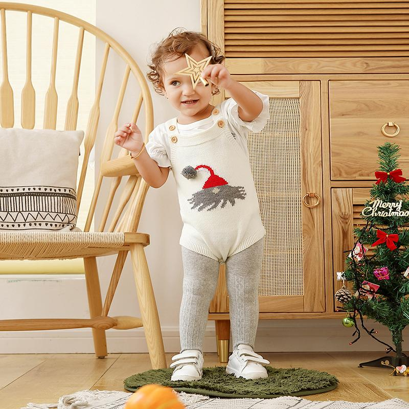 Christmas Hat Pattern Sling Bodysuit for Baby Wholesale children's clothing