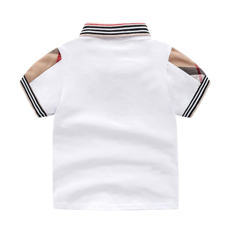 Chic Trendy Stripe Plaid Solid Polo-shirt Children's clothing wholesale - PrettyKid