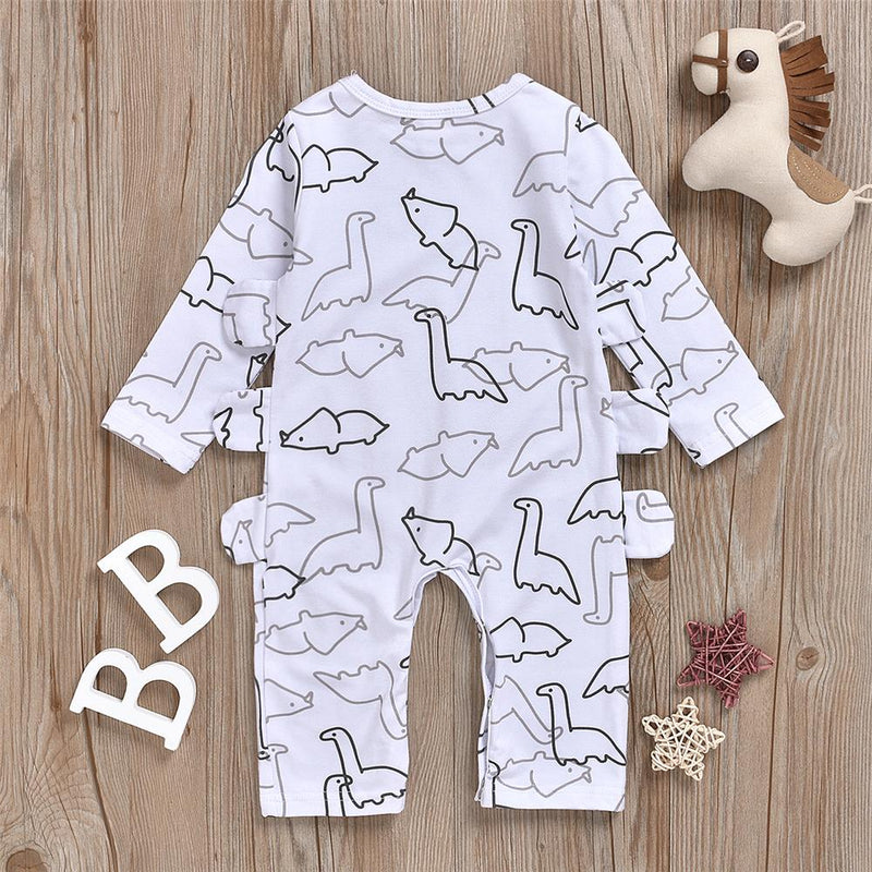 Baby Boy Animal Printed Long Sleeve Romper Buy Baby Clothes Wholesale - PrettyKid