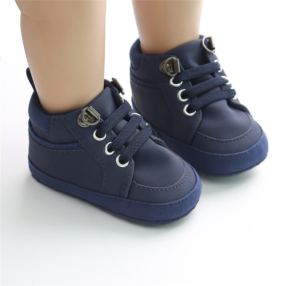Baby Artificial Leather Lace Up Sneakers Wholesale Baby Shoes - PrettyKid